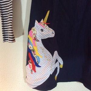 Mini Boden Dresses - Rainbow unicorn girl's tunic